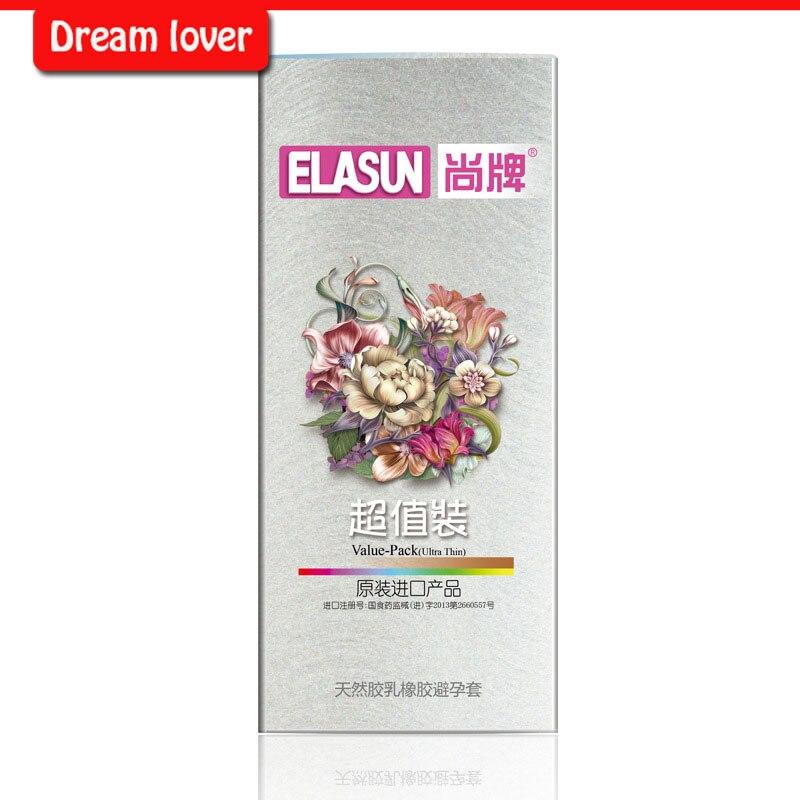 Preservativos por atacado, Original 100 unidades/pacote homem estilos de vida preservativos Elasun preservativo super fino para o homem.