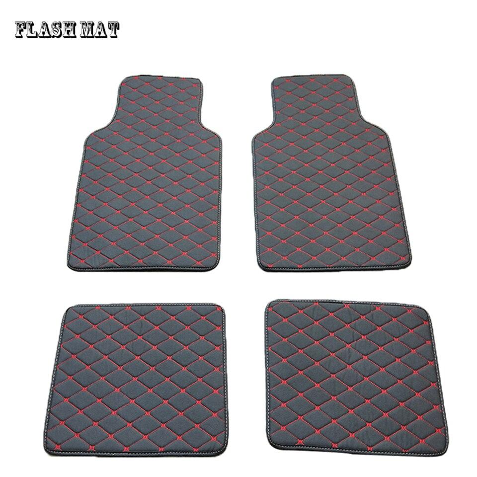 De alta calidad de cuero artificial de coche universal piso mat para skoda superb 2 superb 3 kodiaq octavia rs fabia Esteras del coche