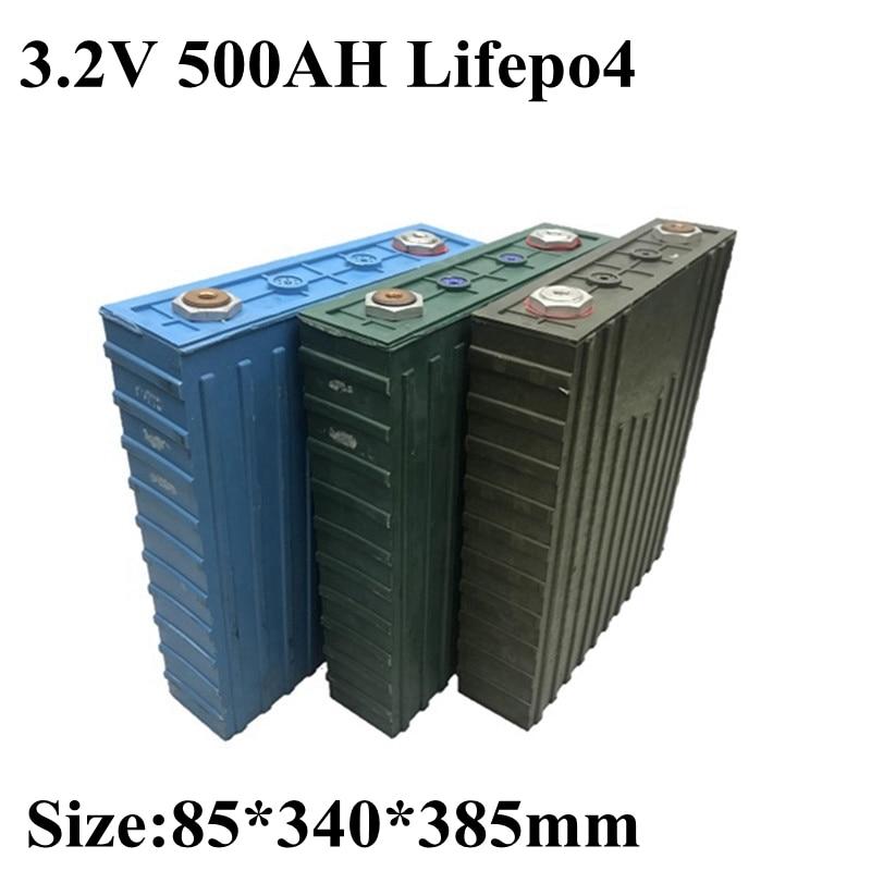 2 uds. Nuevo 3,2 V 500ah Lifepo4 batería de litio 3C descarga para 12V 24V 48V almacenamiento de energía Solar Motorhome inversor RV batería paquete
