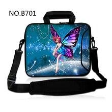Fée fille 10 12 13 15 17 pouces sac à bandoulière pour ordinateur portable 15.6 pochette pour tablette pour macbook pro/air/surface pro 3/sony vaio