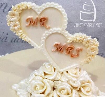 Moldes Nueva llegada limitada Fda para bodas continentales, Cupcakes de amor, Chocolate, Fondant, comida verde líquida, molde para decoración de pasteles