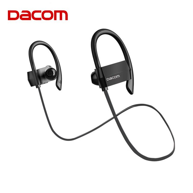 DACOM G18 гарнитура Bluetooth Беспроводной наушники Водонепроницаемый 4 Hands Free barbud Бег