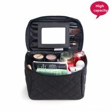 Grand sac cosmétique maquillage cas organisateur beauté vanité maquillage boîte femmes voyage Necessarie toilette lavage poche avec miroir