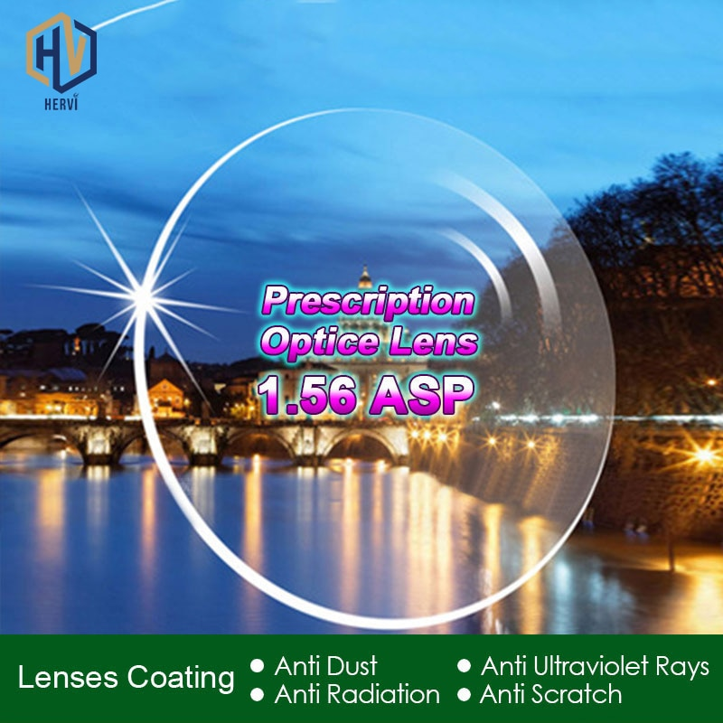chashma anti reflective 1 67 index lens thin recipe optical prescription lenses for eyes super quality clear lens for recipe High Quality Radiation Protection Index 1.56 Clear Optical Single Vision Lens HMC, EMI Aspheric Anti-UV Prescription Lenses,2Pcs
