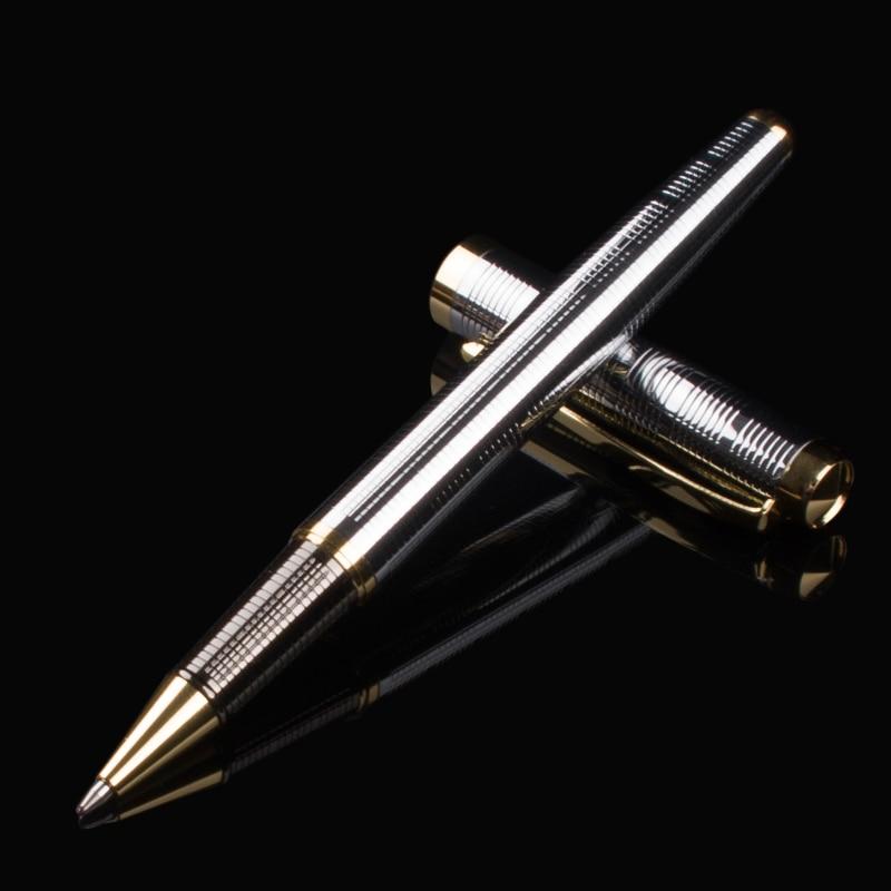 Роскошная золотая ручка в деловом стиле металлическая шариковая ручка офисные гелевые ручки для письма офисные ручки с подарочной коробко...