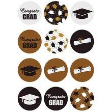 Étiquettes autocollantes pour chapeau de docteur   Étiquette autocollante de nouveauté, chapeau de diplôme, bouteille deau, de félicitations pour remise de diplôme, soirée Grad, 120