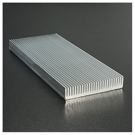 Disipador de calor de aluminio para Transistor de amplificador LED de alta potencia 100x41x8mm