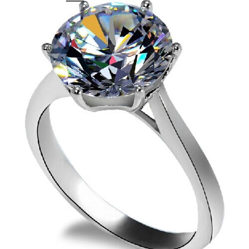 4Ct White Gold 585 Top Popular Brand Splendent test positive Moissanite Engagement Ring For Woman Best Invitation Accessories