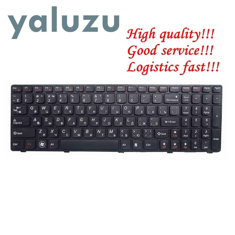 YALUZU Rusia nuevo teclado para LENOVO G580 Z580A G585 Z585 G590 RU borde negro teclado de ordenador portátil