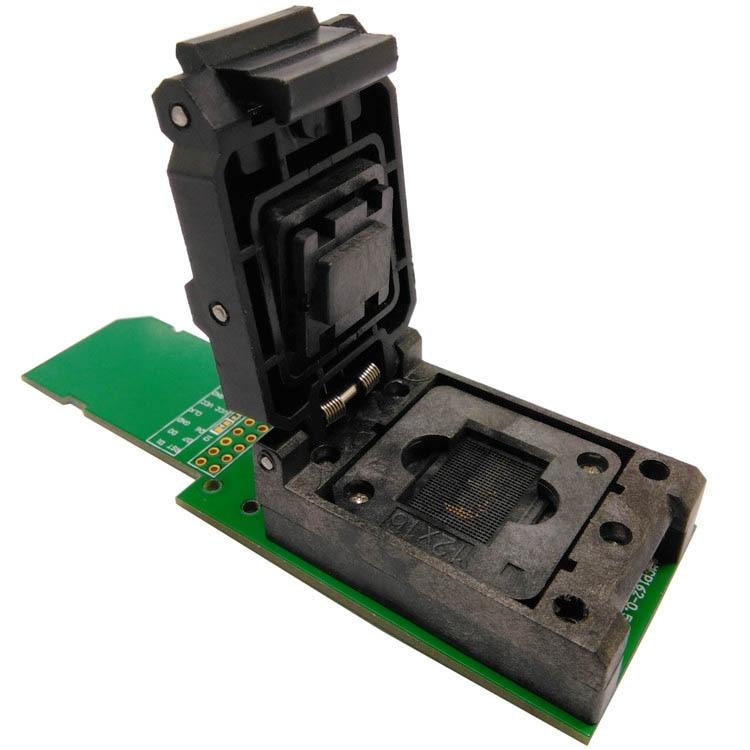 eMCP162/186 Test Socket BGA162 BGA186 Reader IC Size 12x16mm Pin Pitch 0.5mm Nand Flash Programmer Adapter Data Recovery