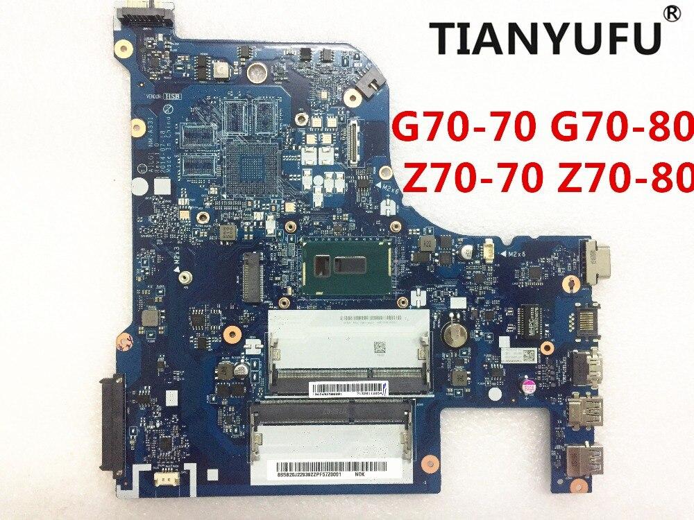 Для Lenovo Z70-80 Z70-70 G70-80 материнская плата AILG1 G70-70 с pentium материнская плата с процессором для ноутбука DDR3 Протестирована на 100%
