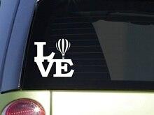 "Globo de aire caliente amor 6 ""pegatina cesta cuerda de globos soplador arena ventana pegatina"