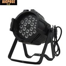 18x3w Aluminu LED Stage light RGB Par projector With DMX512 Master Slave Laser DJ Equipments  luzes para festa 110V-240V