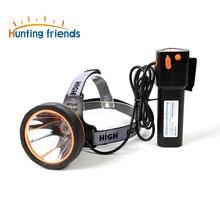 Мощный налобный фонарь для охоты, супер яркий налобный фонарь, перезаряжаемый фонарик, водонепроницаемый налобный фонарь для охоты, рыбалк...