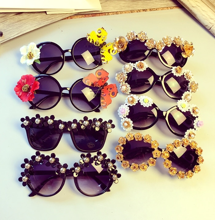Очки для очков в стиле барокко, роскошные винтажные женские солнцезащитные очки ручной работы в стиле ретро с металлической бабочкой и жемч...