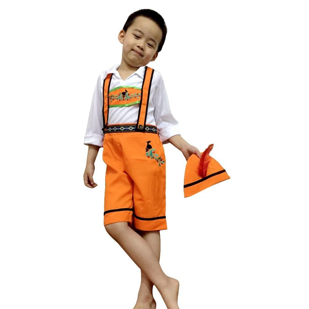 MISSKY Children Girl Boy Oktoberfest Waiter Waitress Costume Beer Festival Suit