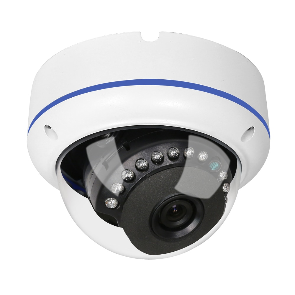 Cámara domo HD de 1080 P, cámara de vigilancia impermeable para interiores y exteriores, visión nocturna, corte IR con interfaz de Audio y alarma H265 IPC