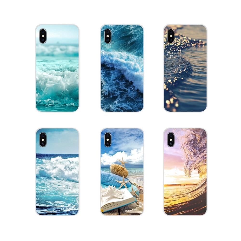Accesorios de carcasa de teléfono para Samsung A10, A30, A40, A50, A60, A70, Galaxy S2, Note 2, 3, Grand Core, Prime, blue sea wave, playa, Verano