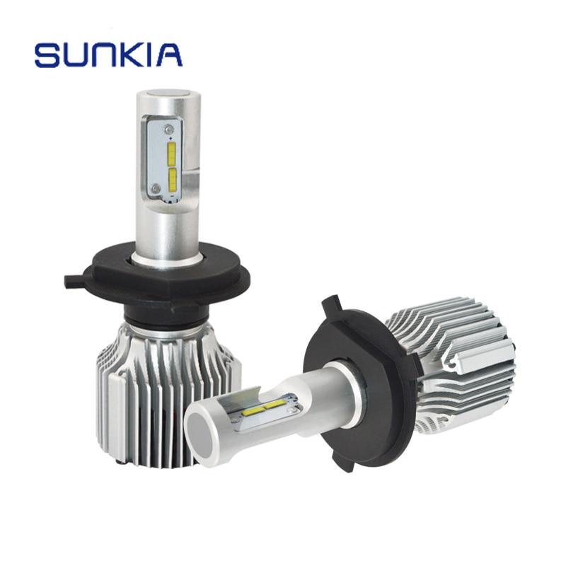 2X New Car LED Headlight V1 H1 H3 H4 H7 H11 HB3 HB4 High Bright 36W 4000LM 11-30V Car Styling Auto LED Headlamp Bulb 6000k