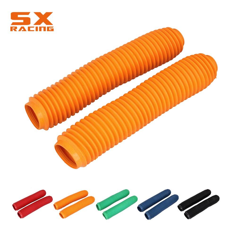 Cubierta de goma Universal de horquilla naranja de 360MM para amortiguador KTM SX XC EXC XCW XCF MX SXF SMR EXCF