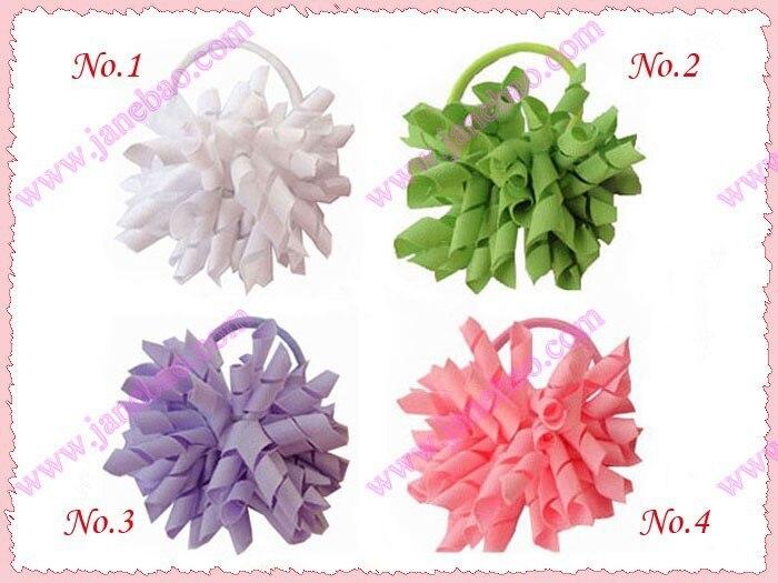 free shipping 45pcs 3'' fashion korker ponys holder ponys elastic mix color girl hair ponys holders