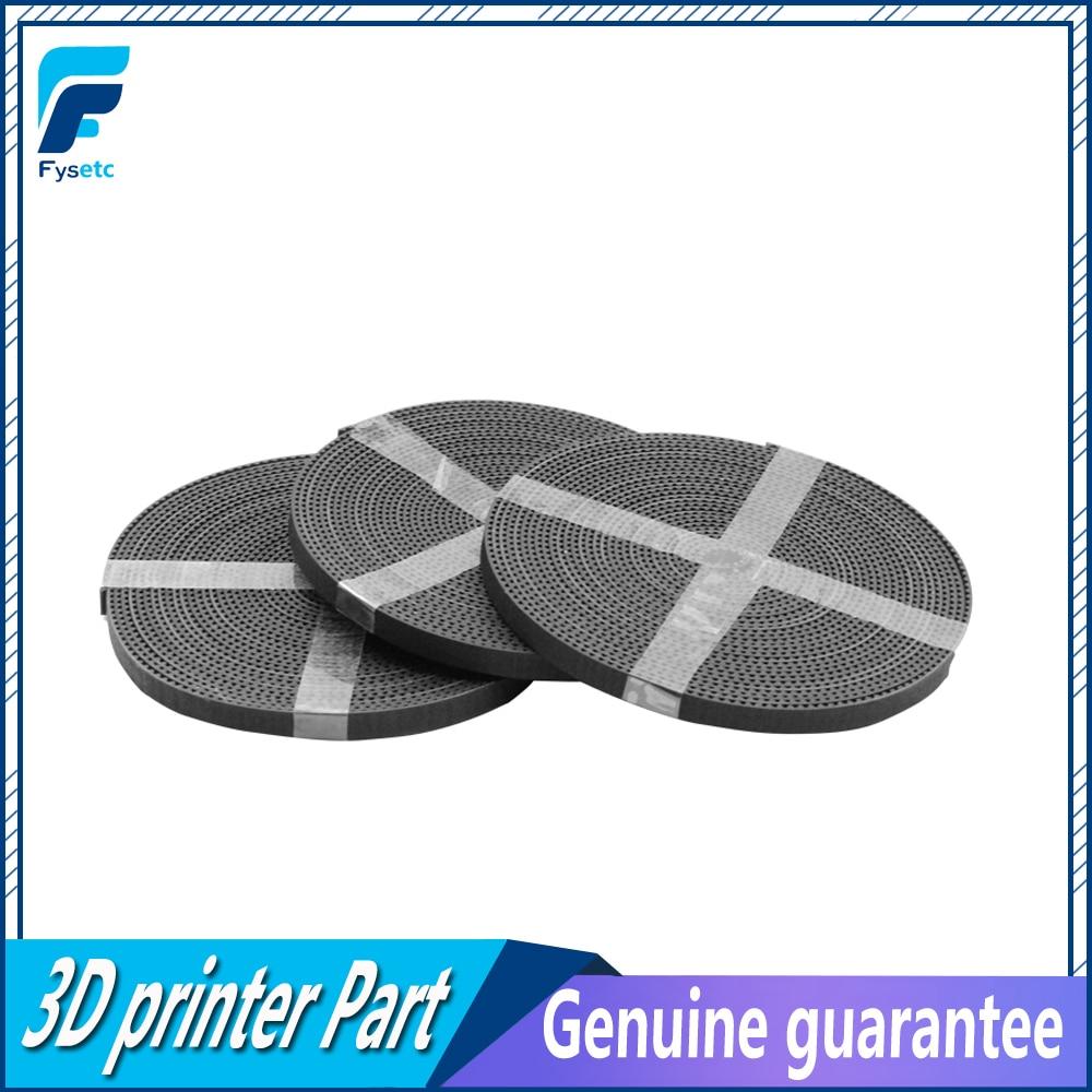 Ремень ГРМ GT2, 2 мм, ширина 6 мм, резиновый Стекловолоконный ремень, подходит для Prusa 3D печати, черный ремень, 3 партии, 5 метров (33 фута)