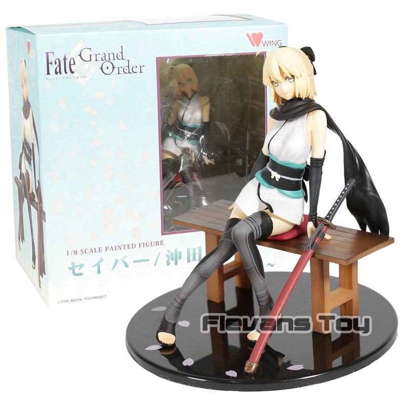 Fate/Gran Orden espadachín Sakura sable Okita Souji Sakura sable descanso Ver. Figura de acción de PVC juguete de modelos coleccionables