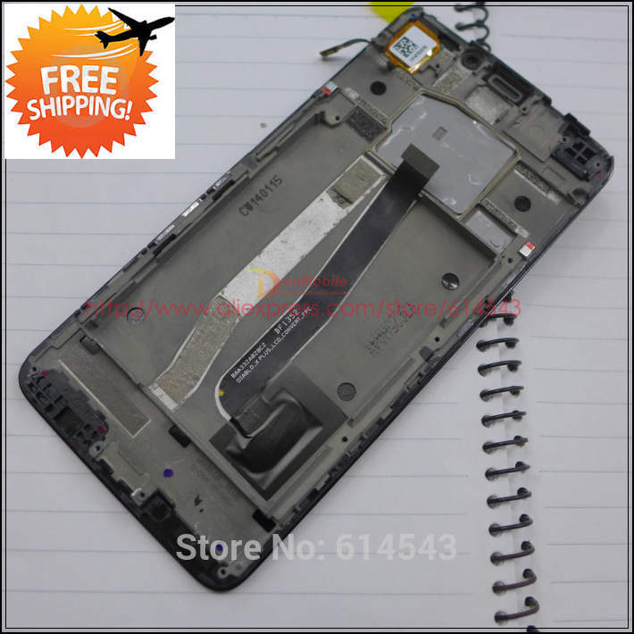 Para Alcatel One Touch Idol X + X Plus OT6043 6043 OT 6043D 6043X pantalla LCD de montaje de digitalizador con pantalla táctil + marco + pista No.1pc