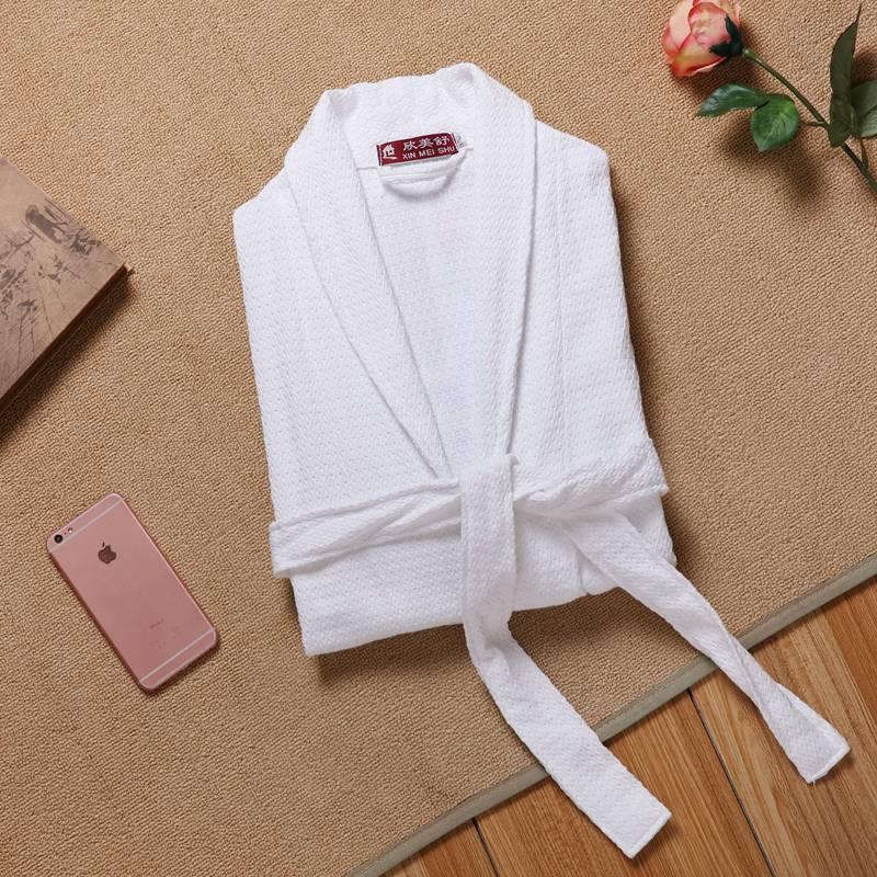 Мужской халат, вафельный хлопковый Халат, кимоно, ночная рубашка, ночная рубашка, халат, халат, плюс размер XXL, лето