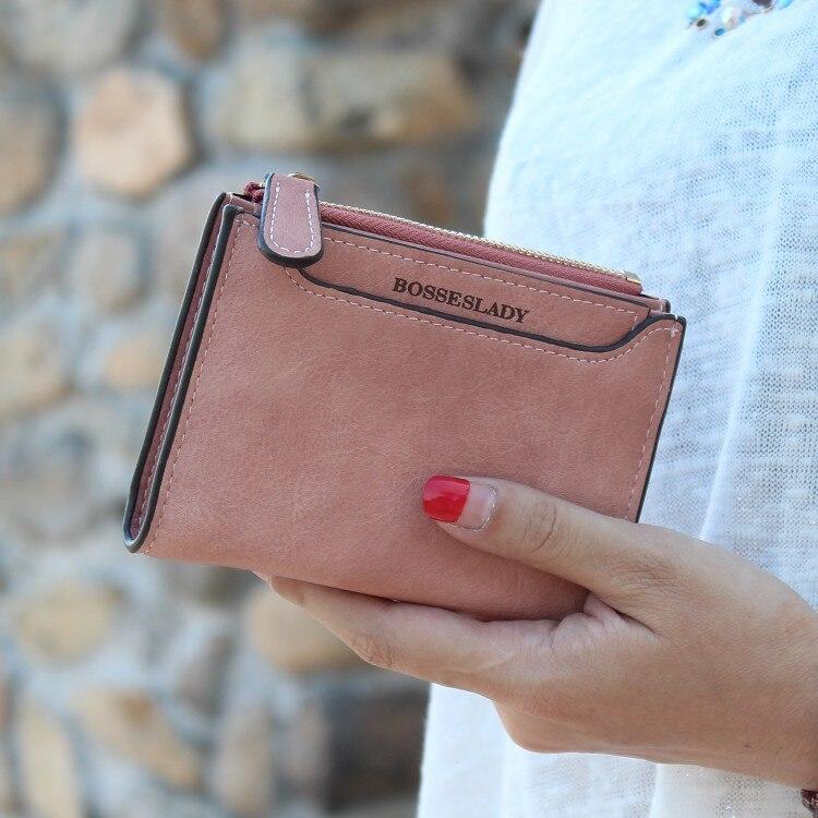 Кошелек из нубука и искусственной кожи, Женский кошелек для монет, роскошный брендовый дизайн, маленький женский кошелек на молнии, тонкий женский кошелек для девушек