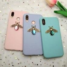 Mode Snoep Kleur 3D Sieraden Bee Case Voor Iphone 11 Pro X Xr Xs Max Zachte Mat Siliconen Tpu Case voor Iphone 6 S 7 8 Plus 5 S Se