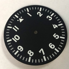 35.5mm Watch Dial Luminous Fit Miyota 8205 8215 821A, Mingzhu DG2813/3804 ruch