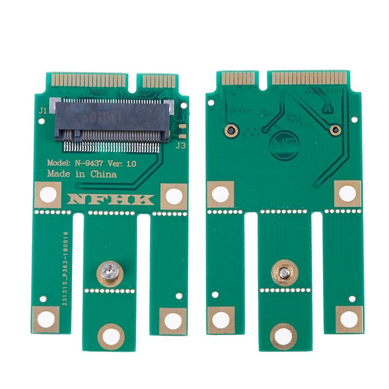 A + E Key A Key M.2 NGFF módulo inalámbrico A MINI adaptador PCIE para Wifi Bluetooth tarjeta de red inalámbrica