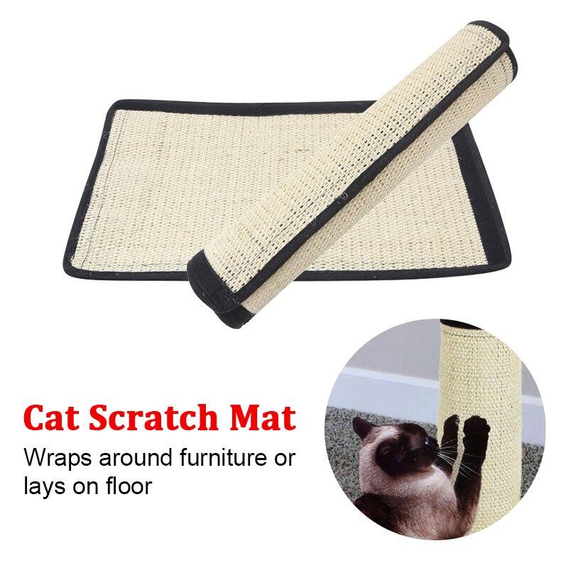 Gato rascador almohadilla Sisal cáñamo juguete molienda protección muebles Pet suministros mascotas
