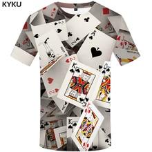 KYKU Poker T-shirt Cartes À Jouer Chemise Jeu T-shirts Las Vegas top T-shirts T-shirt T-shirts Femmes Rock Sexy Fitness Chinois