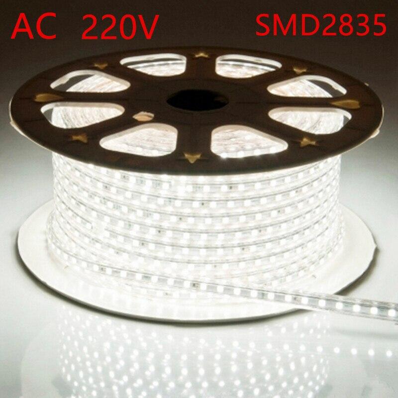 ¡AC 220V luz Barra de luz a prueba de agua 2835 IP67 IP68 luz con enchufe de alimentación de tira de luz led para la decoración de Casa envío gratis!