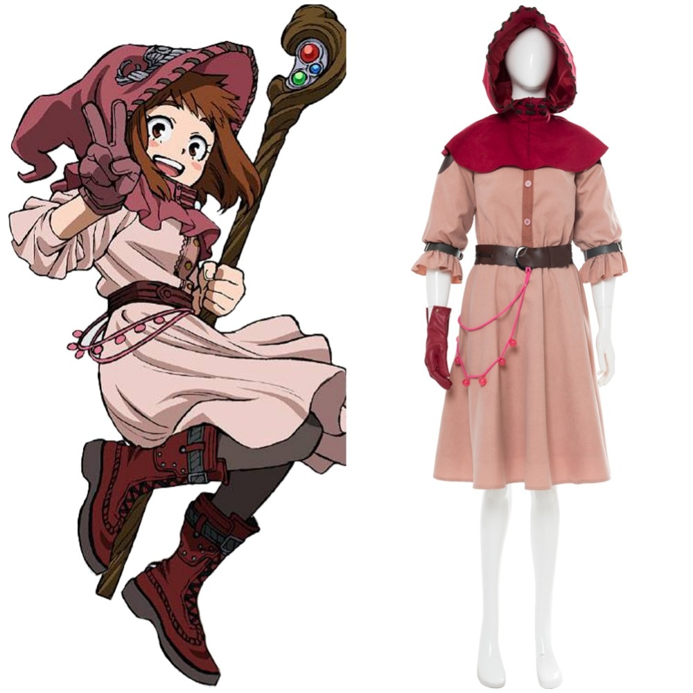 ¡Boku no héroe Academia mi héroe Academia Ochako Uraraka Cosplay bruja Uraraka Ochako Cosplay traje de Carnaval de Halloween bruja Ver!