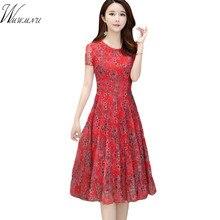 Maman été robe imprimée florale femmes tenue décontractée en mousseline de soie motif de fleurs à volants tunique élégante Empire taille haute robe de femme