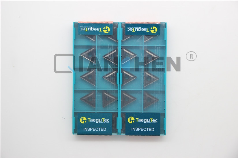 TaeguTec-أداة قاطعة CNC ، 10 قطعة/الوحدة ، TNMG160408 TT7015 TNMG 160408 TT7015 ، إدراج كربيد ، وجه مطحنة