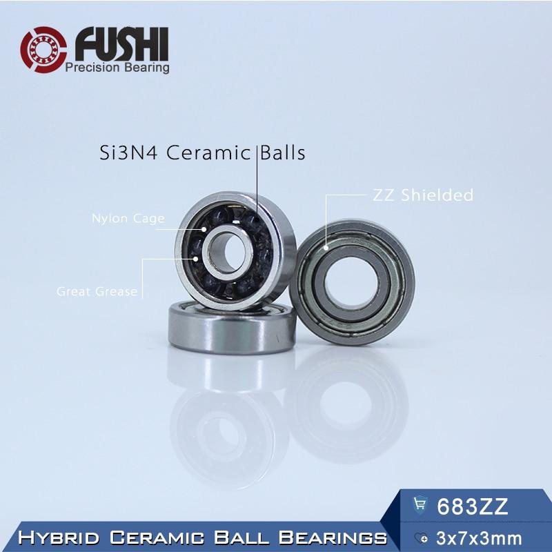 683 rodamiento de cerámica híbrido 3*7*3mm ABEC-1 (1 PC) Eje de motor...