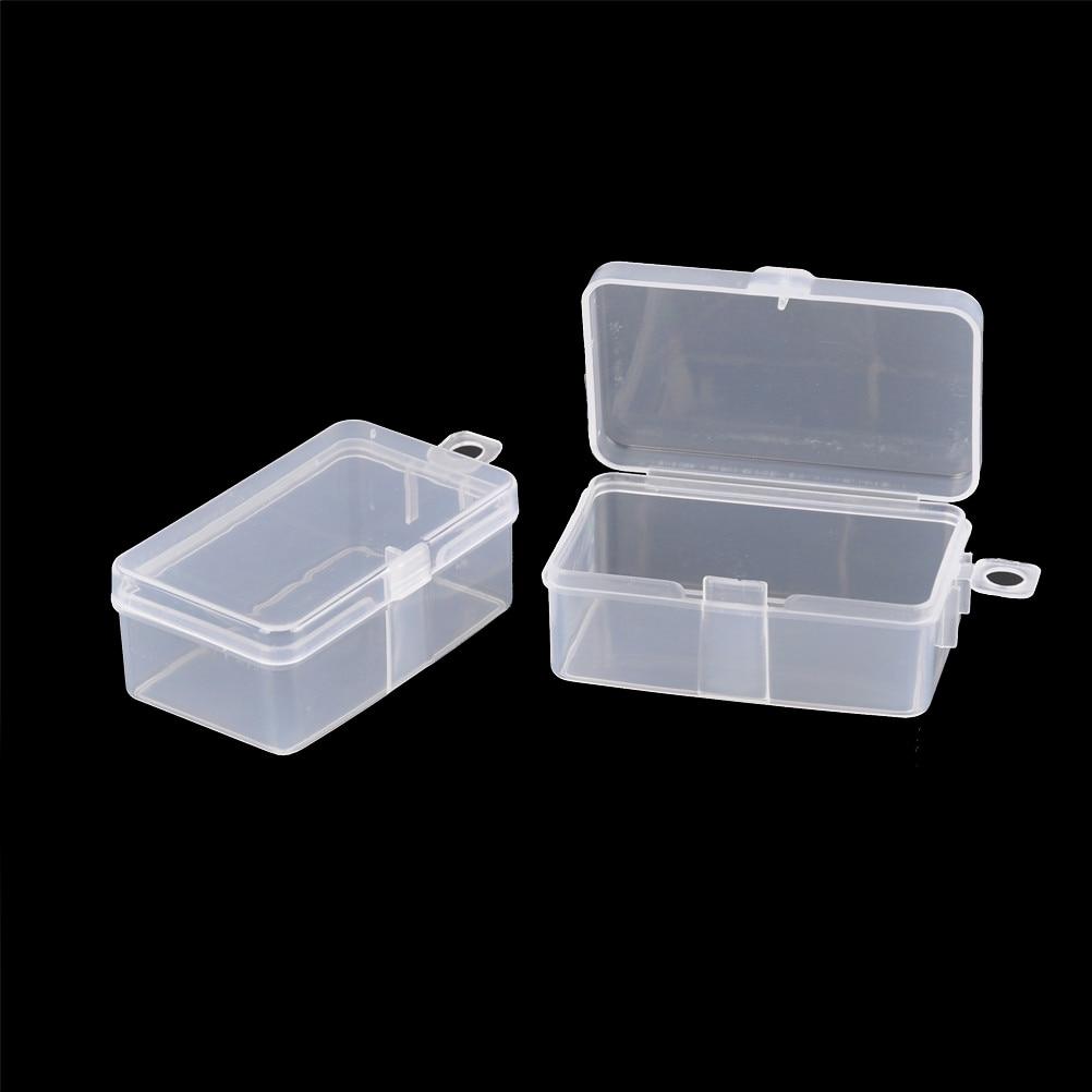 2 pçs/lote Transparente caixa de Ferramentas Caixa de Ferramentas Recipiente Eletrônico Plastic Parts Costura Peixe Gancho Componente Caixa De Armazenamento De 6.9*3.9*2.6cm