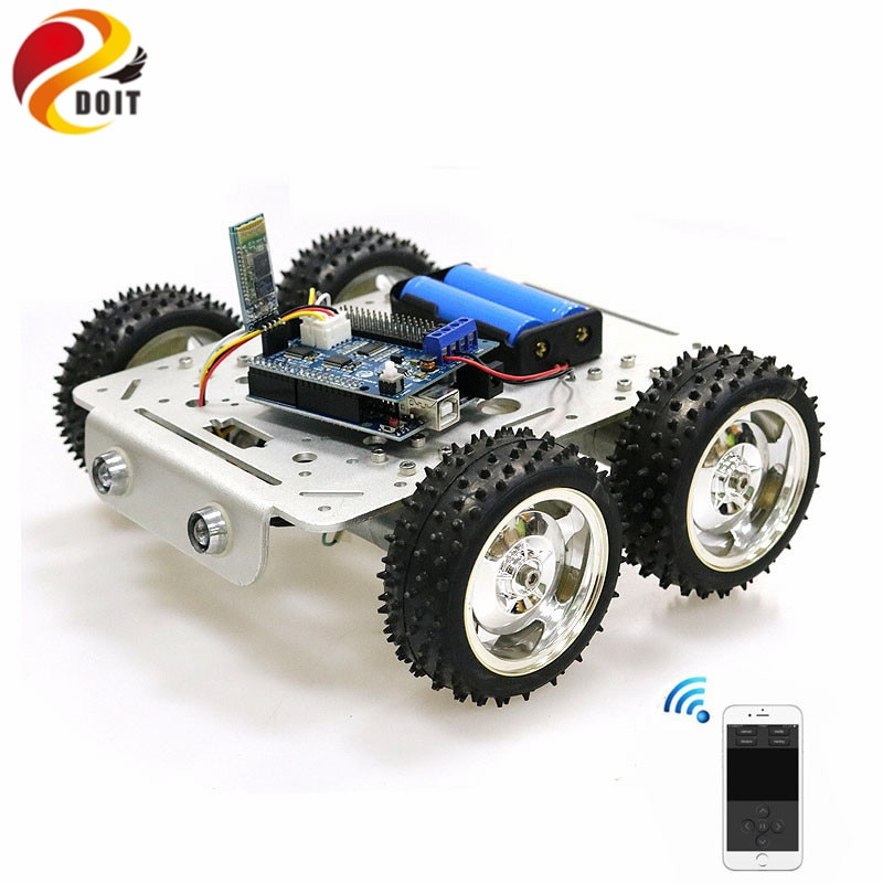 C300 Bluetooth/Handle/WiFi RC Control Robot Tank Chassis Car Kit with UNO R3 Development Board+ 4 Road Motor Driver Board DIY enlarge