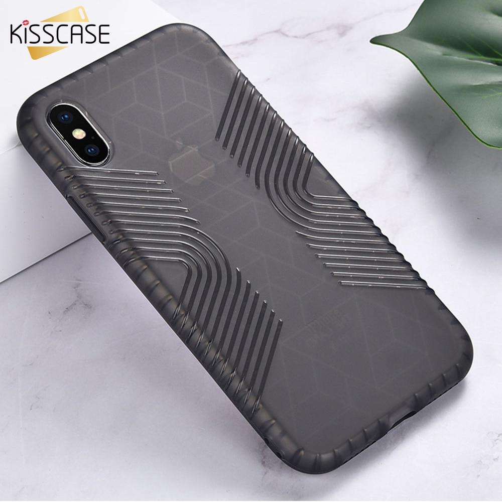 Fundas KISSCASE de lujo para teléfono Anti-caída para iphone XS X XS Max suave funda de silicona trasera funda para iphone 8 7 6s Plus carcasa de TPU