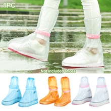 1 paar Regen Schuh Abdeckungen Band High-Top Anti-Slip Regen Schuhe Fall Unisex Wasserdichte Schutz Schuhe Boot abdeckung Reusable Verdicken #