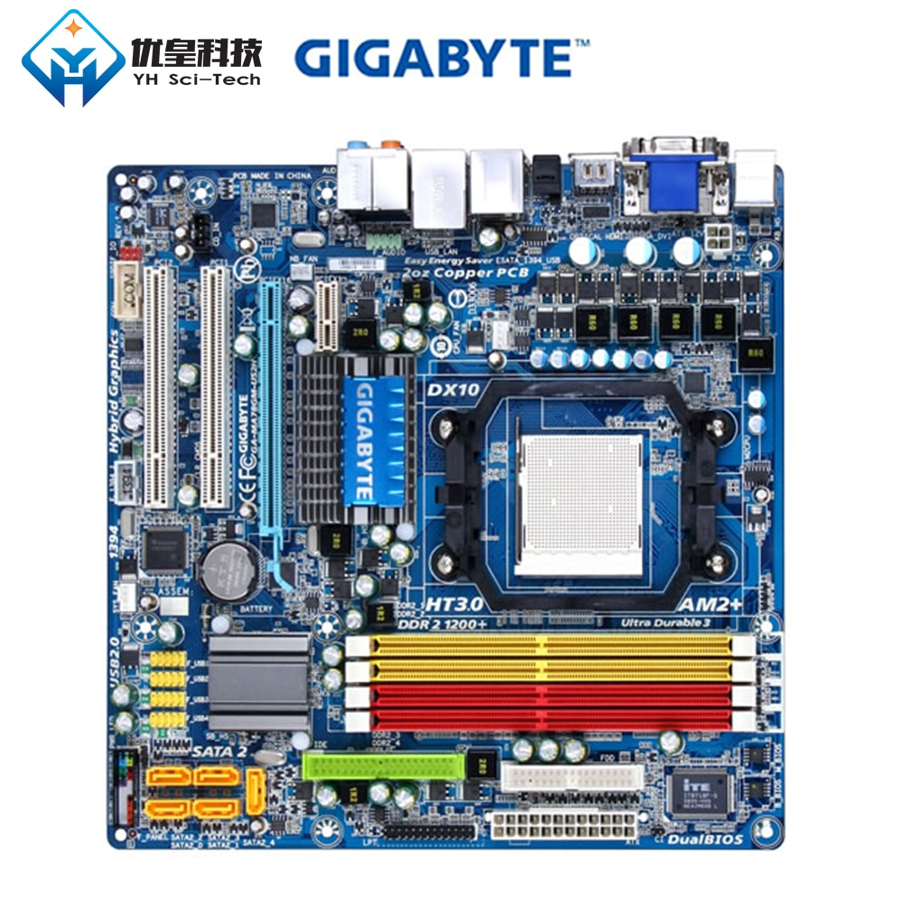 Gigabyte GA-MA78GM-US2H AMD 780G Оригинальная настольная материнская плата AM2 AM2 + AM3 Phenom FX X4 X3 DDR2 16G SATA2 Micro-ATX