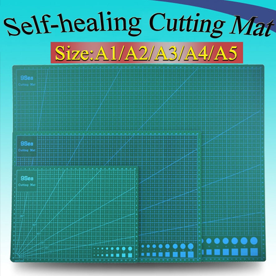 1piece A2 A3 A4 A5 self-healing Cutting mat PVC Rectangle Grid Lines tool Fabric Leather Craft DIY Supplies Stationary