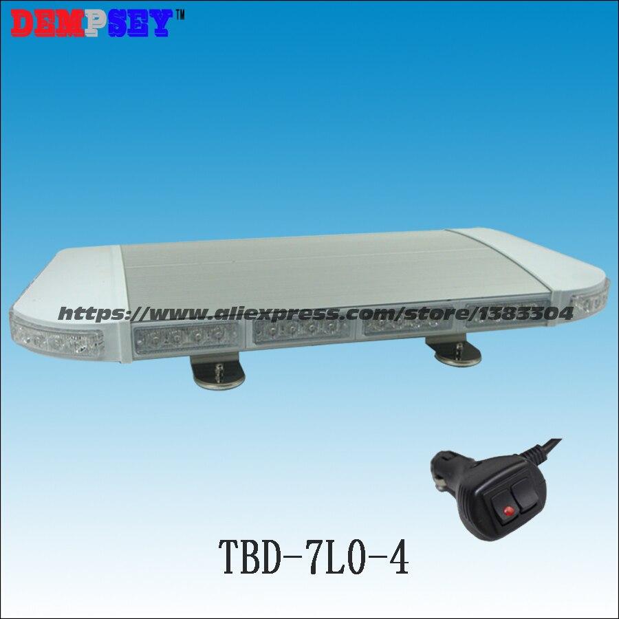 Barra de luz de advertencia de emergencia LED de alta calidad TBD-7L0-4/mini Barra de luz/luz de advertencia intermitente/luz LED de base magnética pesada