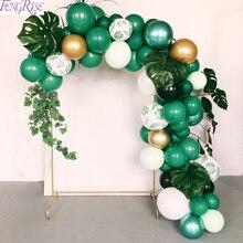 FENGRISE Jungle fête palmier feuille ballons fête danniversaire Supplie Tropical été Safari fête décor Jungle thème fête décoration