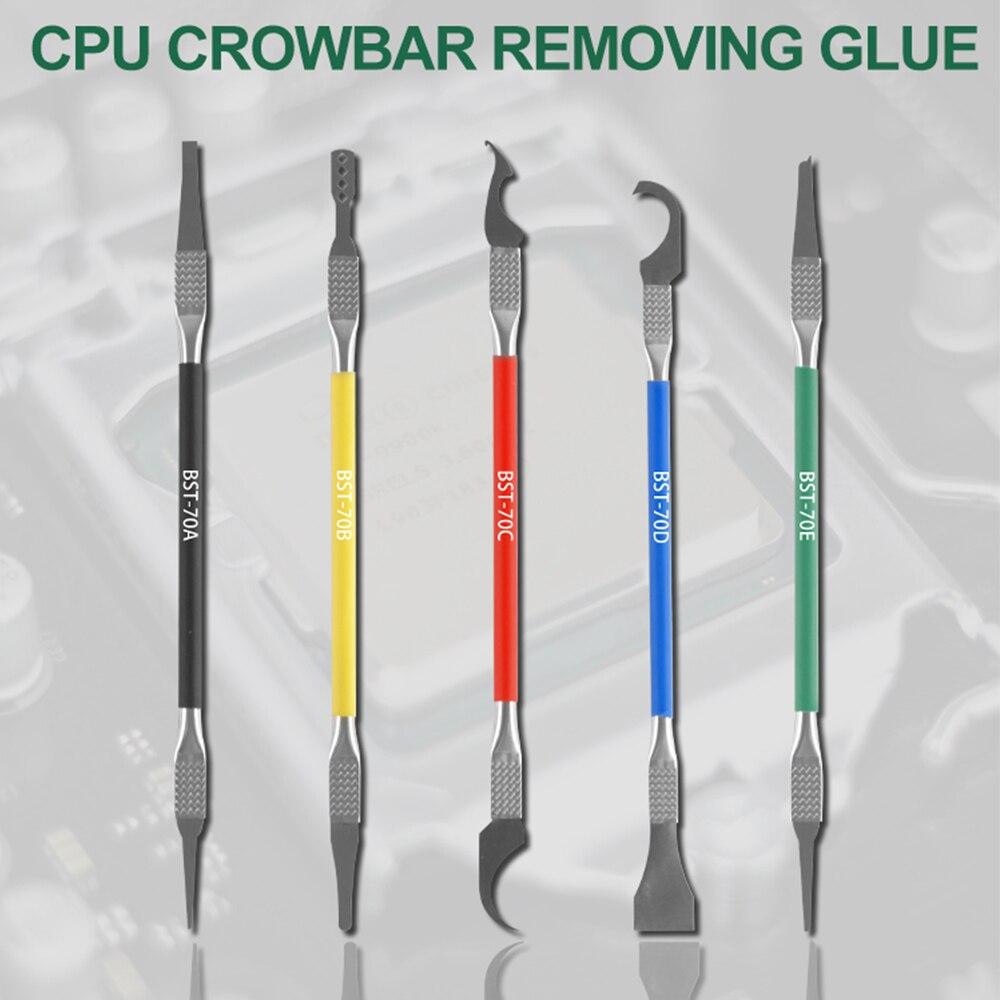 5 ב 1 IC שבב תיקון דק להב מעבד NAND מסיר BGA תחזוקה סכין להסיר דבק לפרק טלפון מחשב חוזרת מעבד כלים