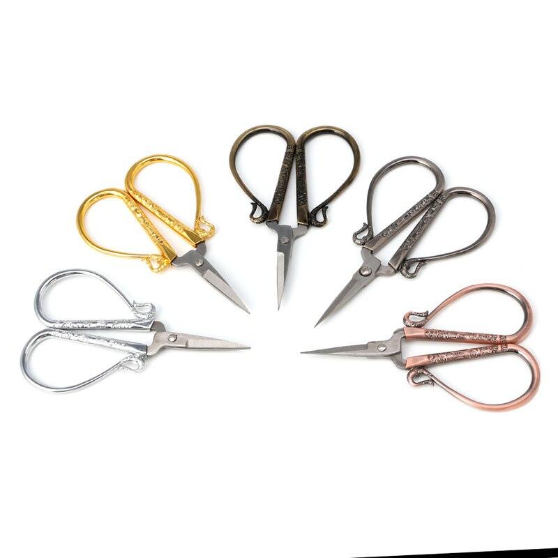 1 pc tesoura floral aço inoxidável europeu vintage tesouras de costura diy ferramentas retro tesoura